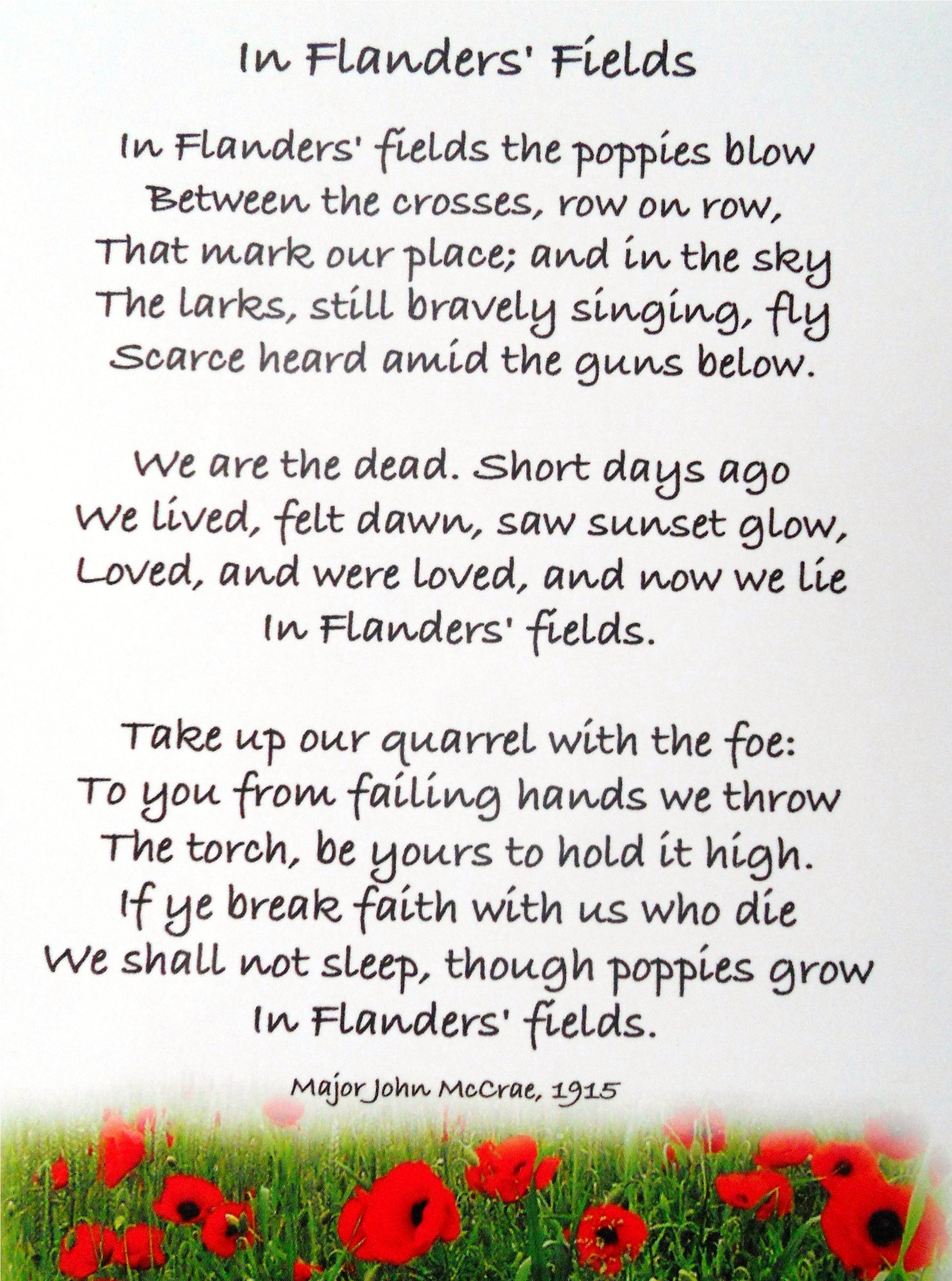 analysis of flanders fields and the The inspiration for the ww1 poem, in flanders fields by john mccrae.
